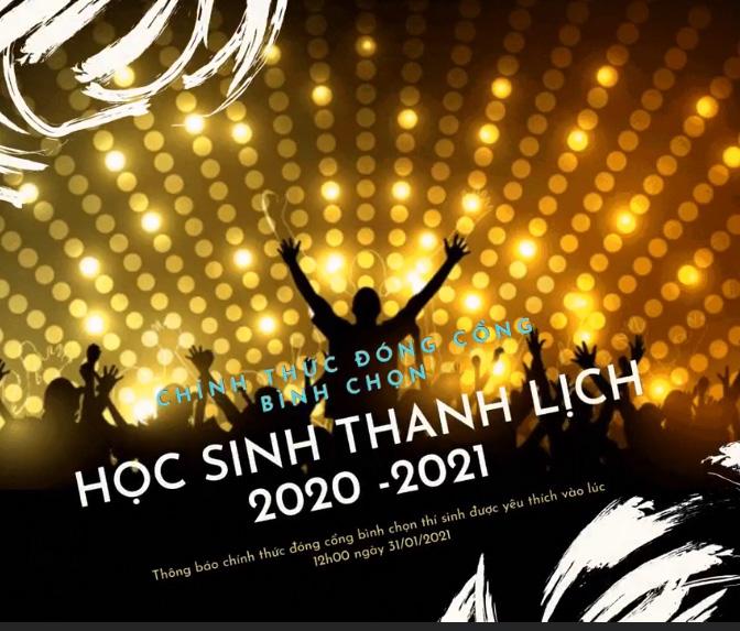 Thông báo: chính thức đóng cổng bình chọn thí sinh yêu thích nhất HSTL 2020-2021
