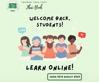 Thông báo học online toàn trường năm học 2021-2022